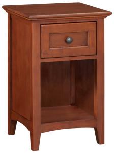 Whittier Wood Furniture 1-Drawer McKenzie Nightstand