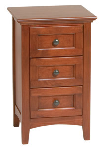Whittier Wood Furniture Small 3-Drawer McKenzie Nightstand