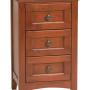 Whittier Wood Furniture Small 3-Drawer McKenzie Nightstand