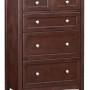 Whittier Wood Furniture McKenzie 5-Drawer Tall Chest