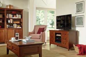 Whittier Wood Furniture McKenzie Living Room with Entertainment Stand