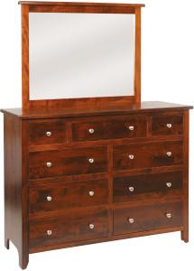 J&M Woodworking Classic Shaker Dresser