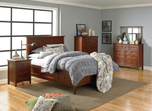 Whittier McKenzie Bedroom Glazed Antique Cherry Finish