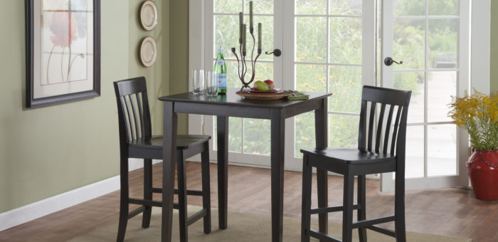 WhiteWood Charcoal Dining Set