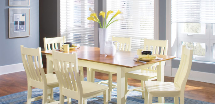 WhiteWood Canary and Warm Cherry Dining Set
