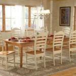 WhiteWood Candlelite Khaki Farmhouse Dining Set