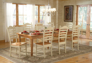 WhiteWood Candlelite Khaki Farmhouse Dining Set