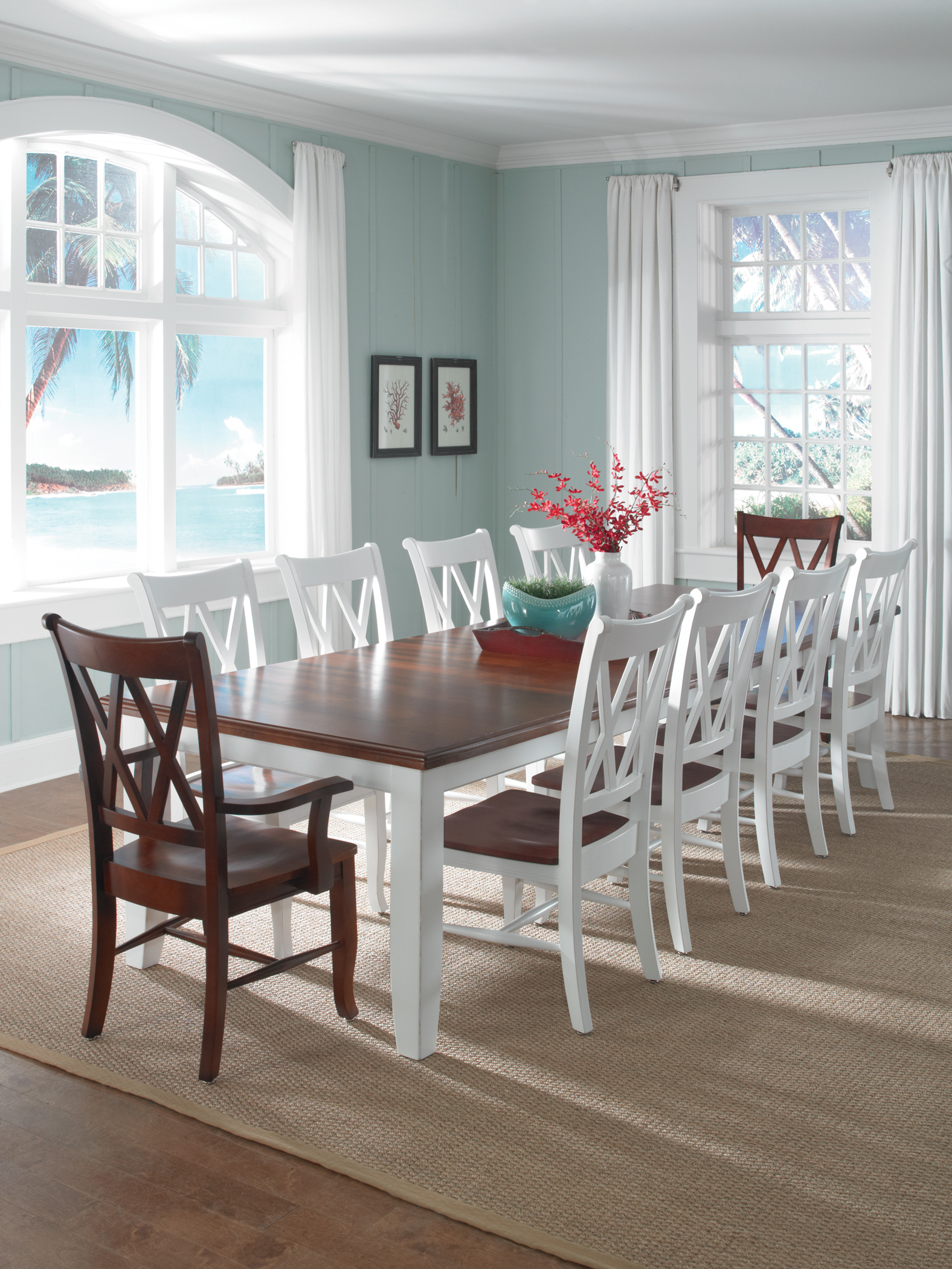 Gentil WhiteWood Dining Set