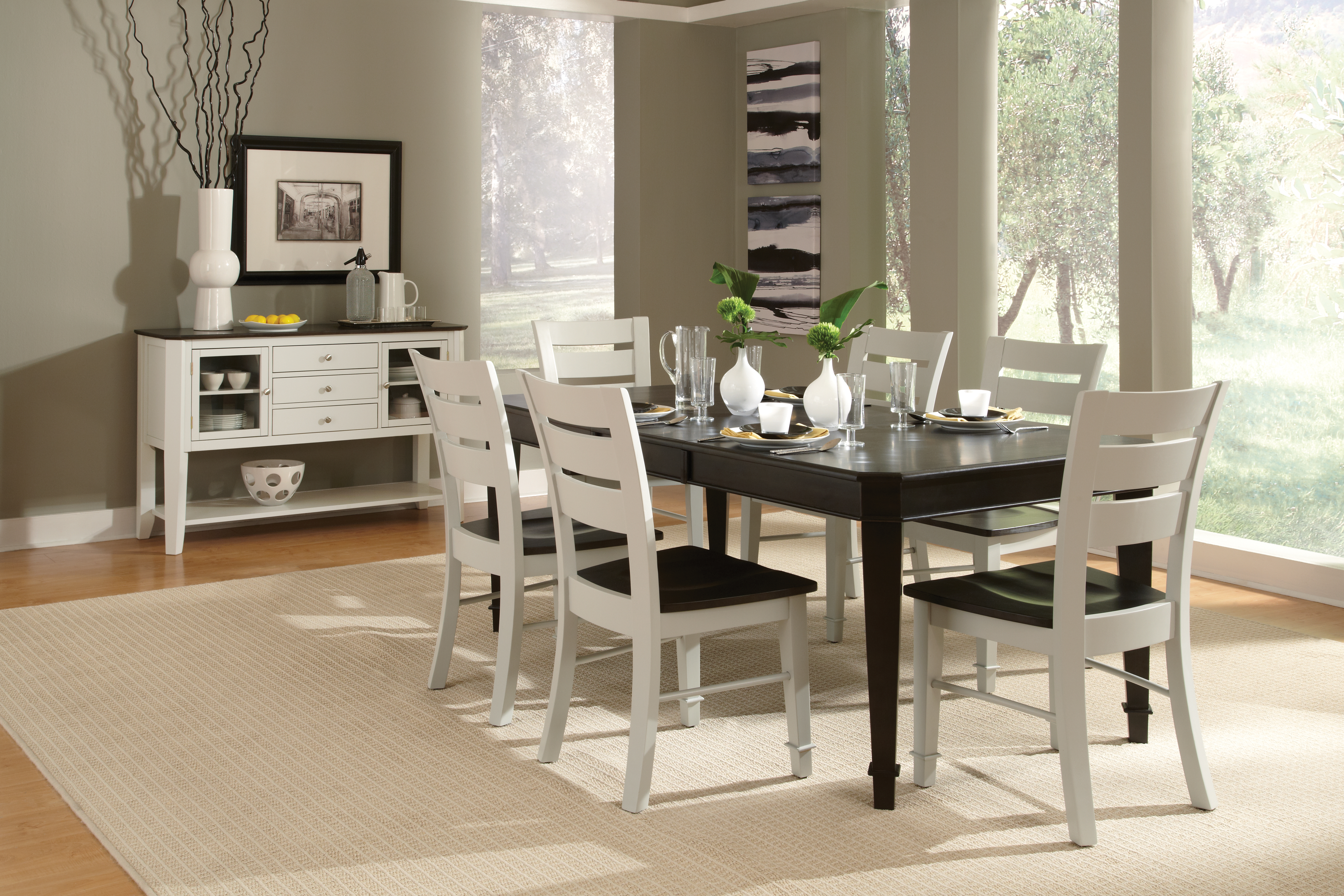 WhiteWood Charcoal Driftwood Dining Set