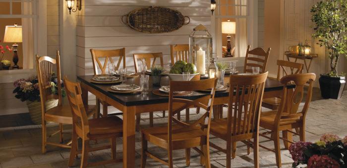 WhiteWood Espresso Candlelite Dining Set