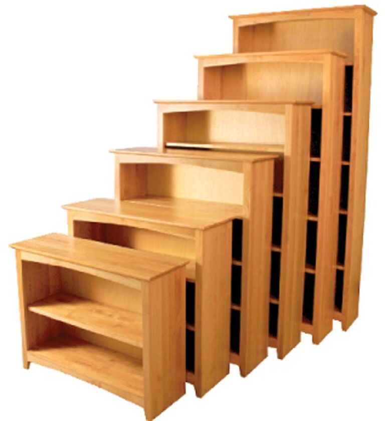 Finished and unfinished bookcases the wooden chair in