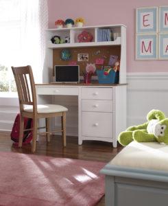 WhiteWood Furniture Children's Desk and Hutch