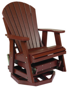 Backyard Adirondack Swivel Glider in Cherry