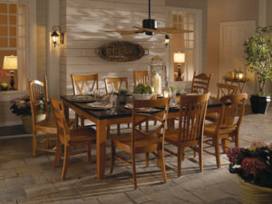 Whitewood dining room furniture at the Wooden Chair